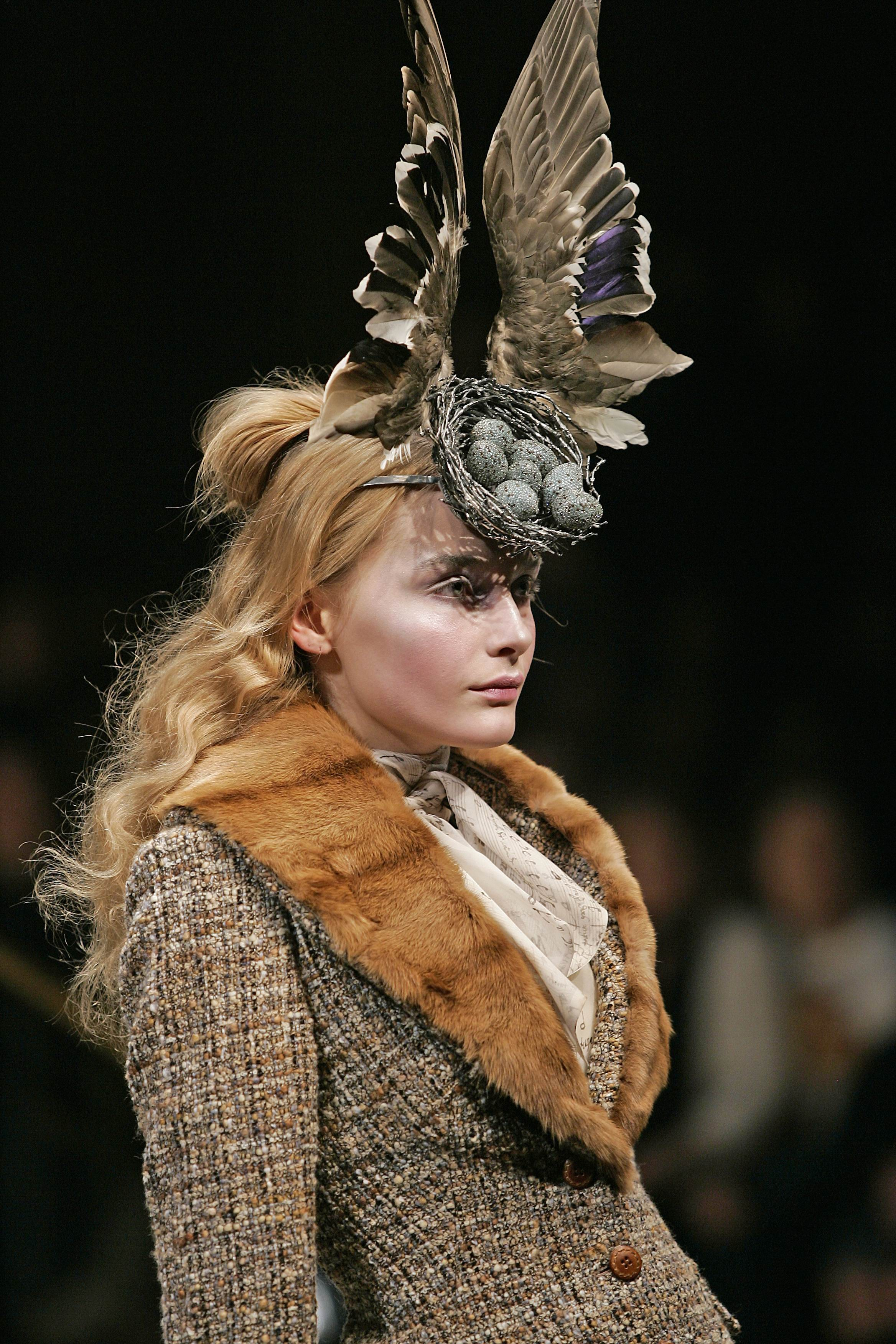6. Bird's Nest Headdress, made with Swarovski Gemstones by Philip Treacy and Shaun Leane for Alexander McQueen AW 2006